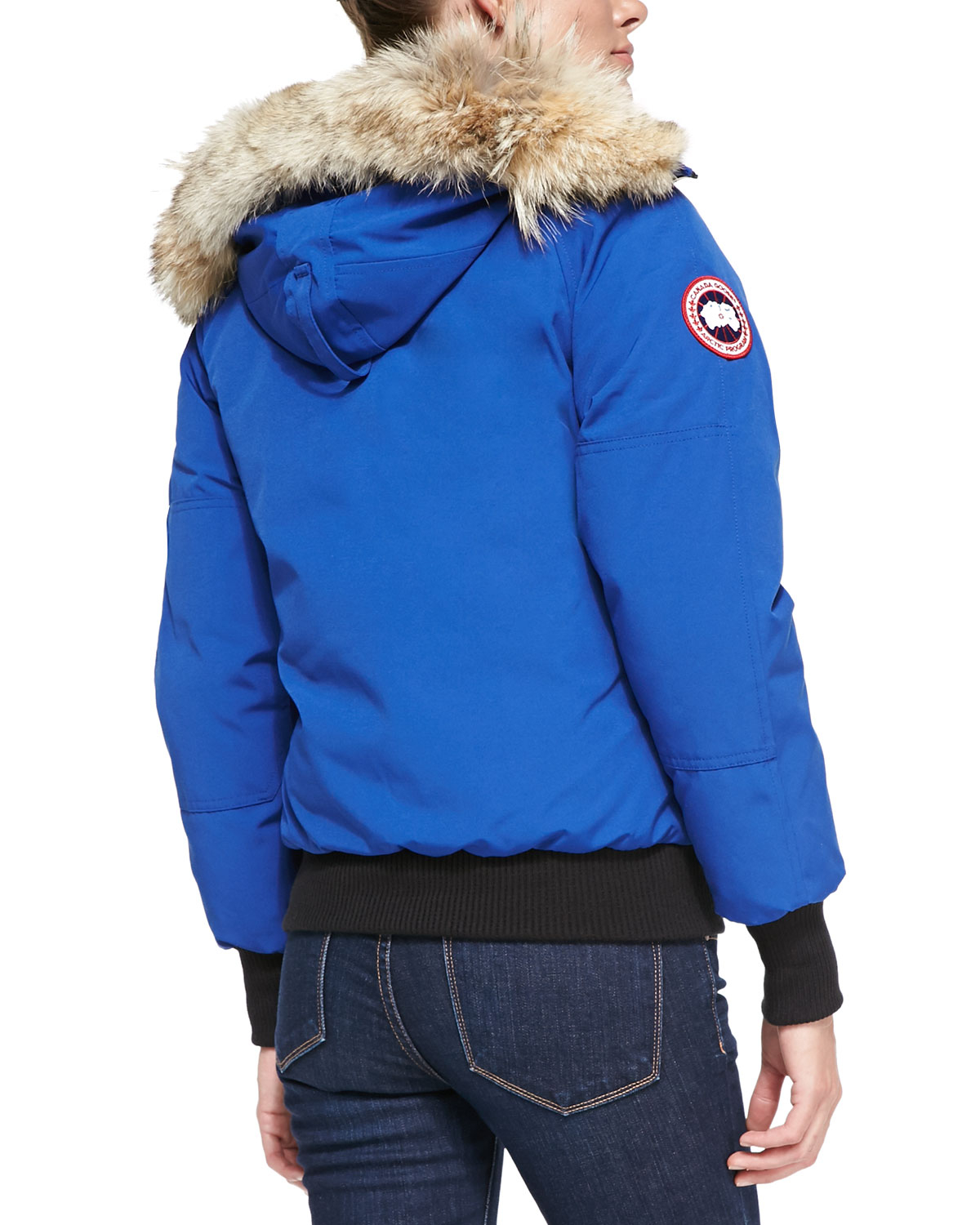 Canada Goose Chilliwack Bomber Jacket With Fur Hood In