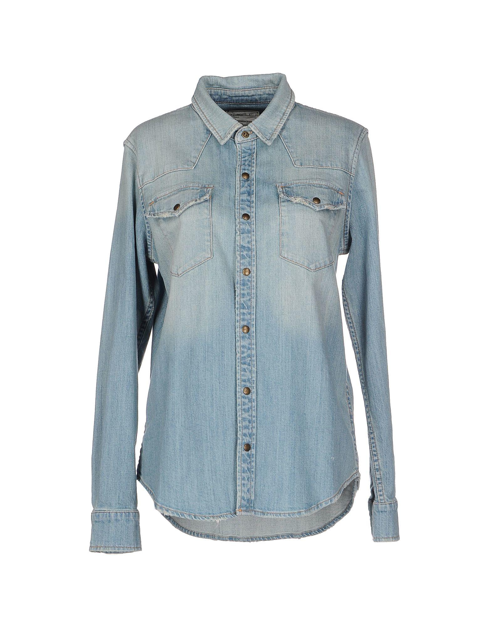 current elliott denim shirt in blue lyst