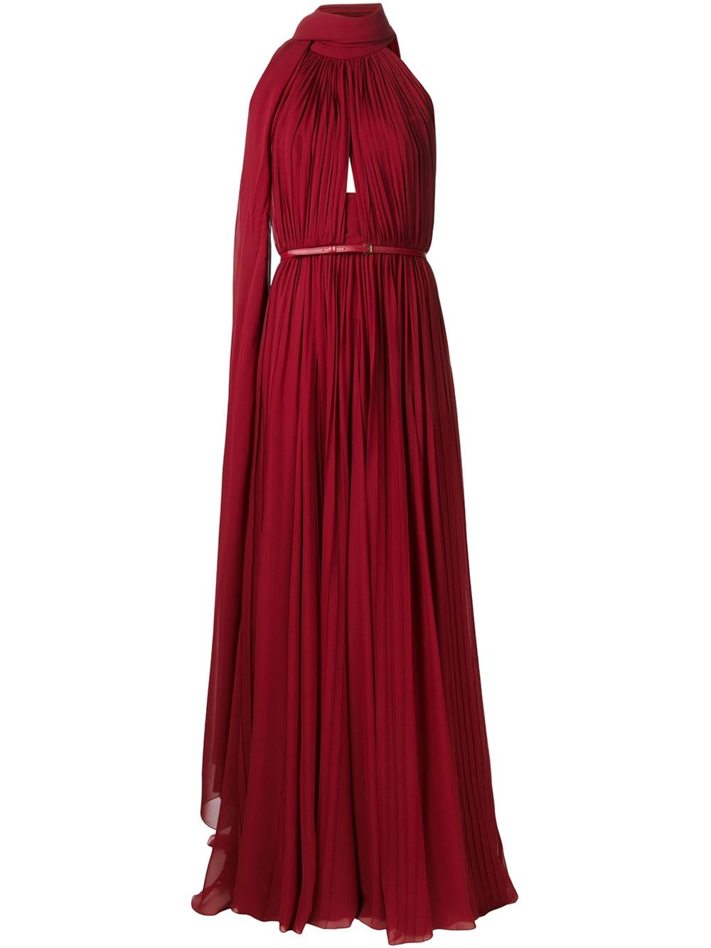 Elie saab Backless Long Dress in Red | Lyst