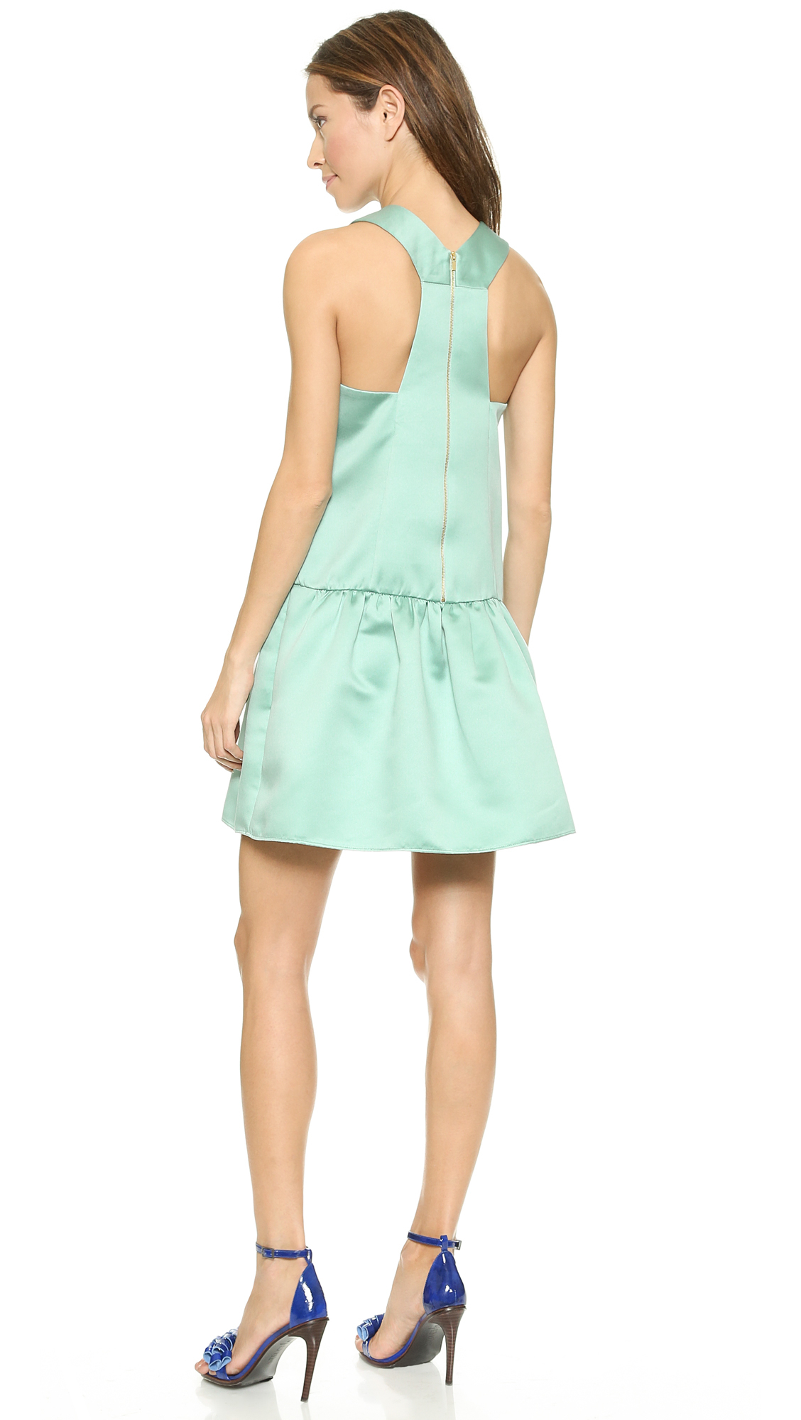 Tibi sleeveless maxi dress mint