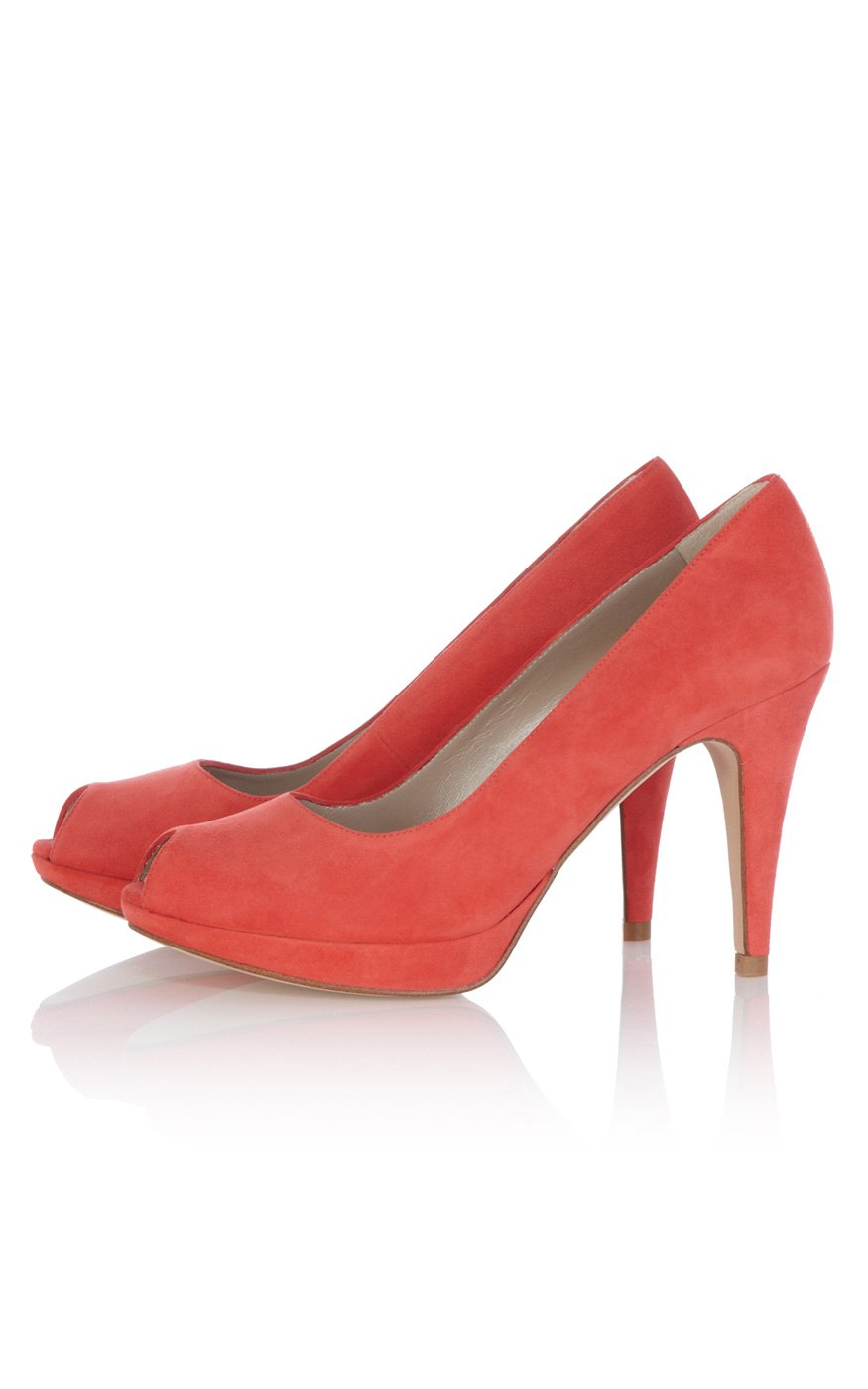 Karen Millen Suede Peep-Toe Pumps new cheap price free shipping websites cheap sale looking for lbimncP