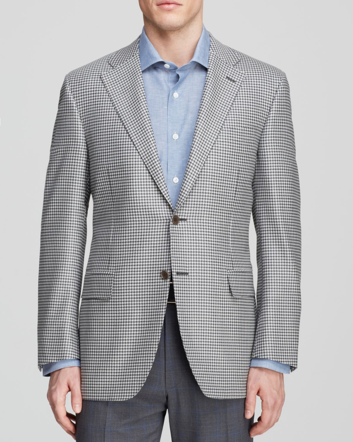 Canali Houndstooth Sport Coat - Classic Fit in Gray for Men | Lyst