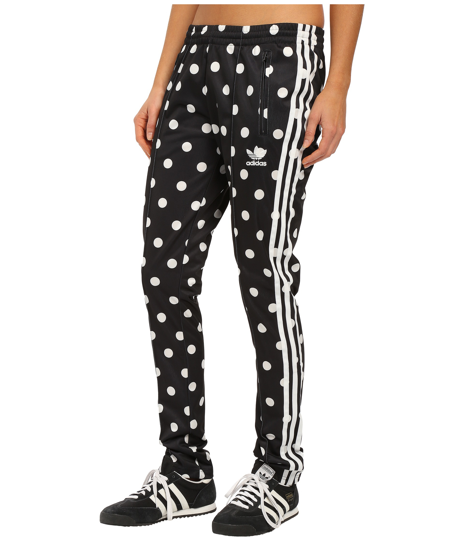 e72594f41348 Lyst - adidas Originals Dots Aop Supergirl Track Pants in Black for Men
