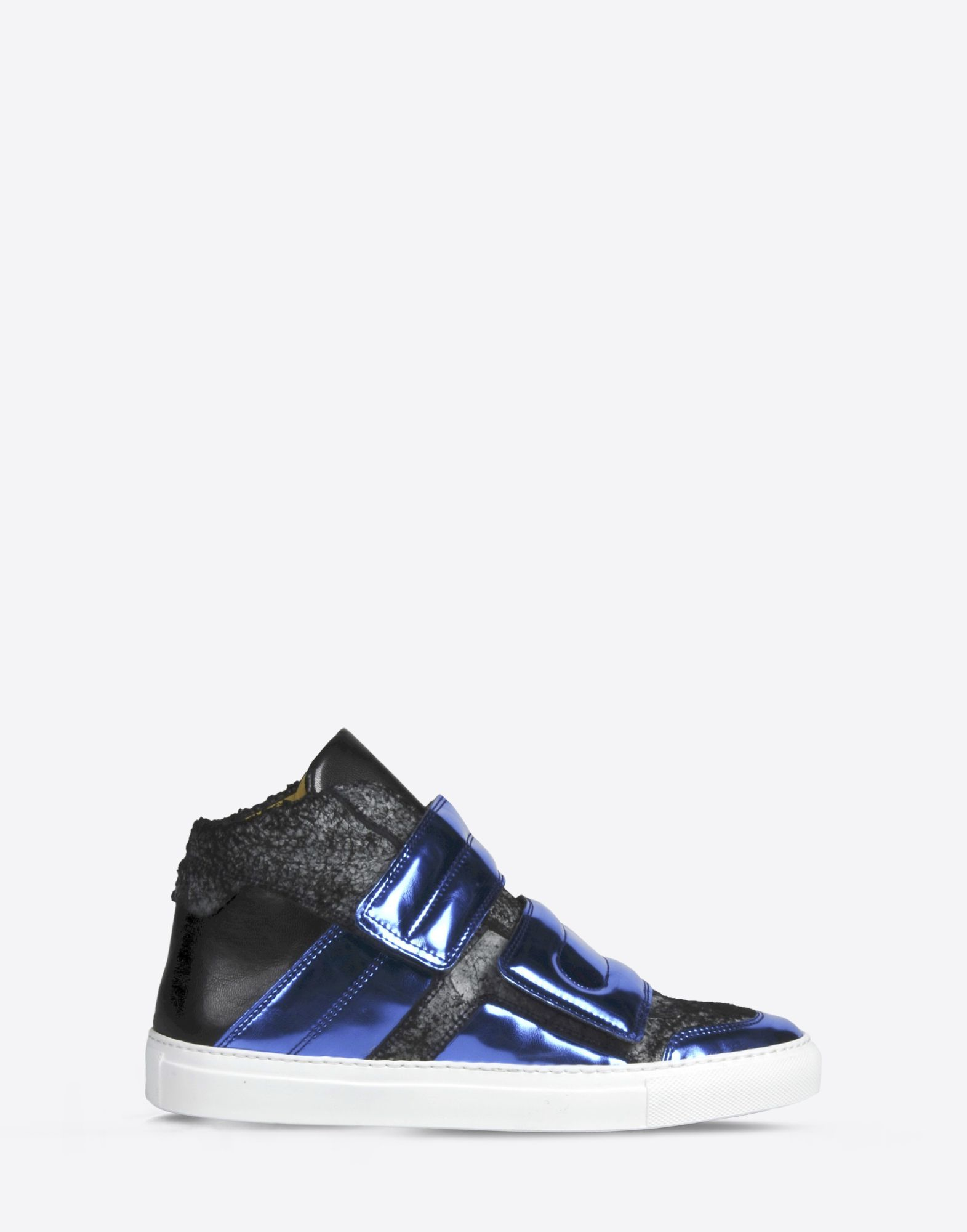 Mm6 by maison martin margiela calfskin and metallic high for Mm6 maison margiela