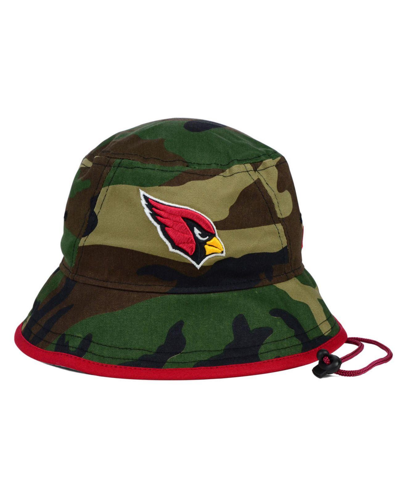 brand new a2ea8 102b9 ... wholesale lyst ktz arizona cardinals camo pop bucket hat in green for  men 6ccaa e63f6