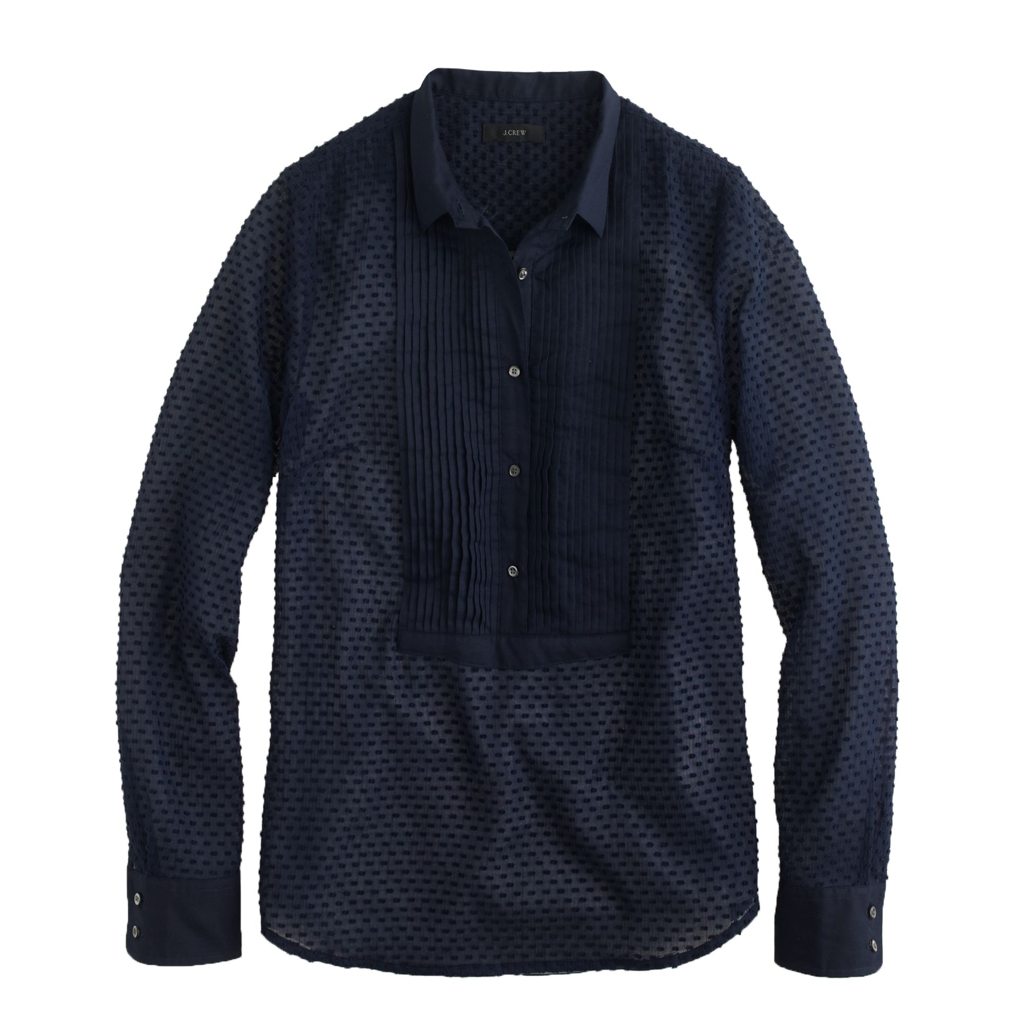 Swiss dot tuxedo shirt in blue navy lyst for Jcrew com