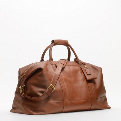 coach large cabin bag in brown for men britishtan lyst