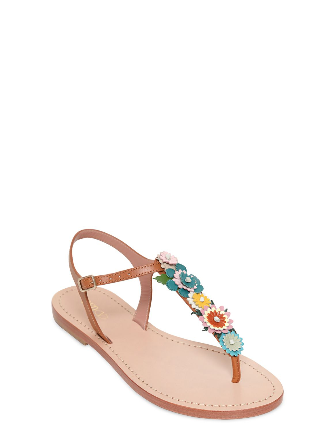 Natural Leather Color Sandals