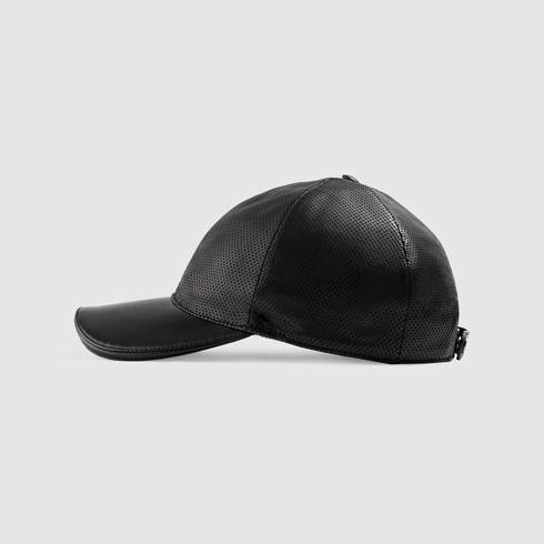 Lyst - Gucci Black Leather Baseball Hat in Black for Men addba550fe9