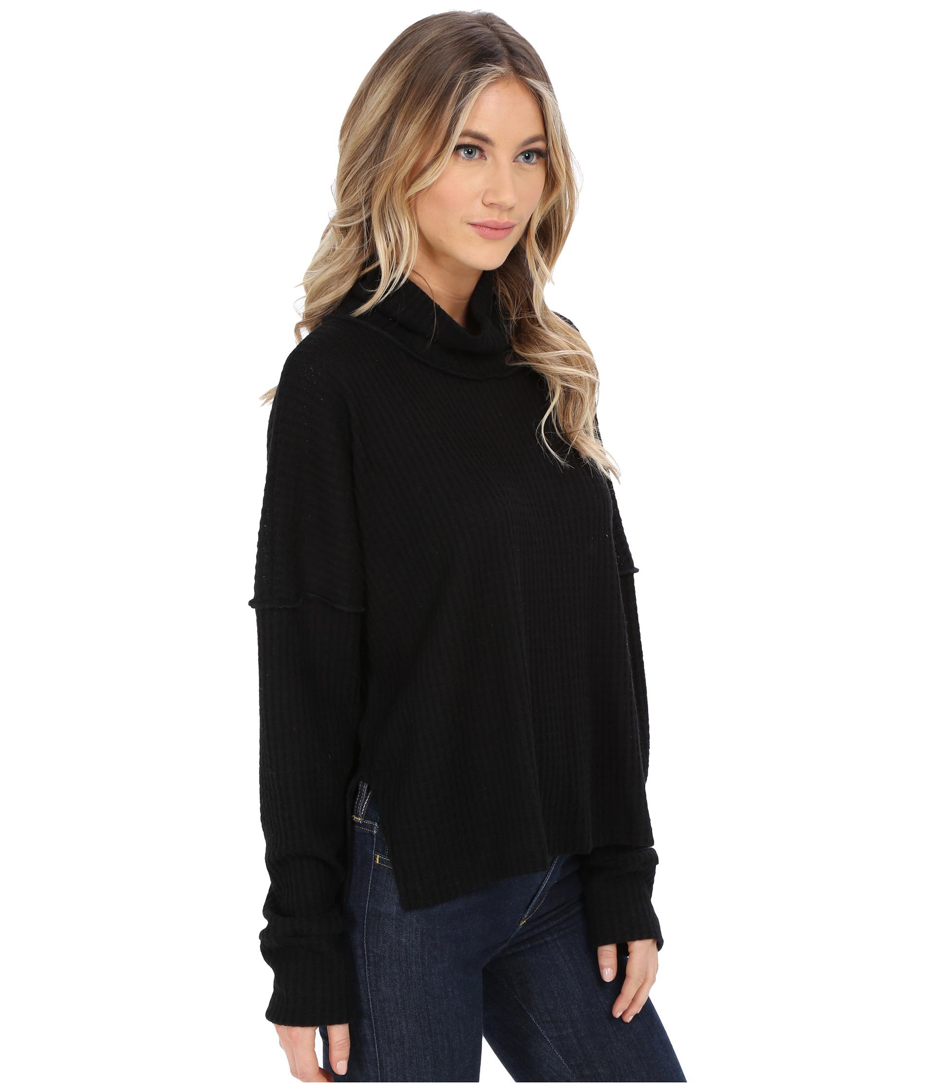 Lna Oversized Turtleneck Sweater in Black | Lyst