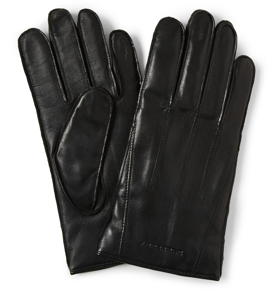 Nike Gloves Touch Screen: Burberry Touch Screen Cashmere Lined Leather Gloves In