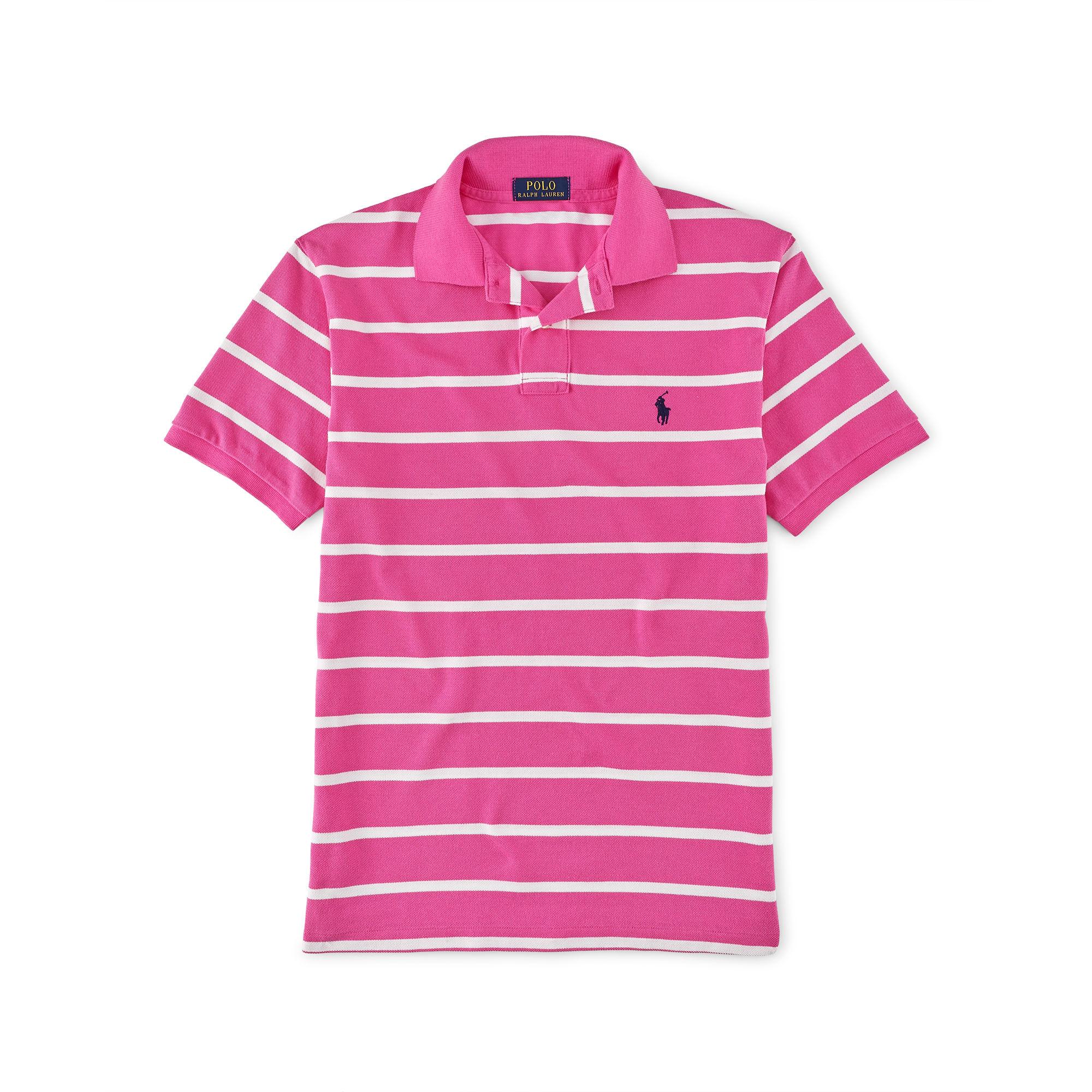 d4c6b59b5 Polo Ralph Lauren Slim Fit Striped Shirt Pink - Nils Stucki ...