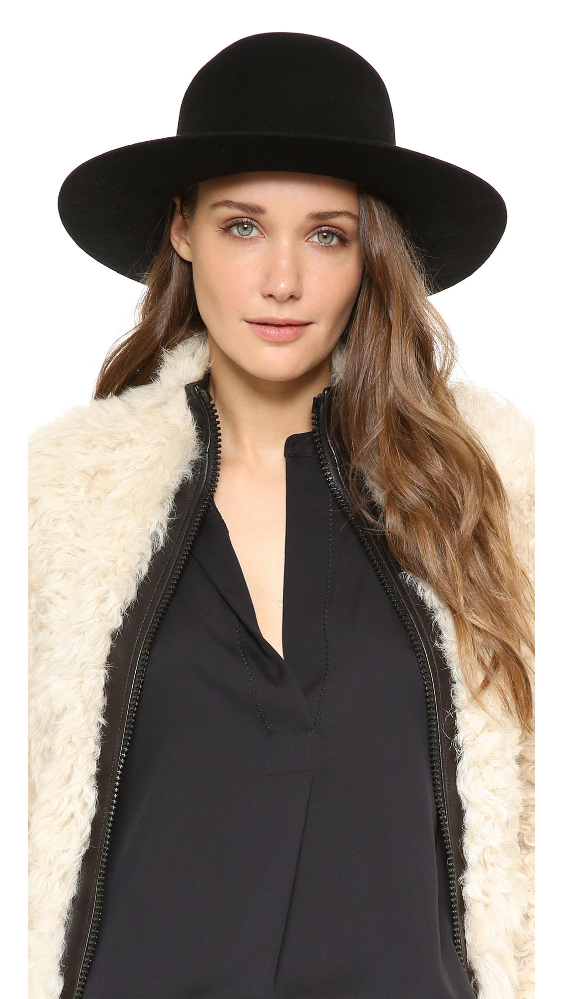 italy brixton colton hat in black lyst 5d0db c5dfe fdbf7dda1daf