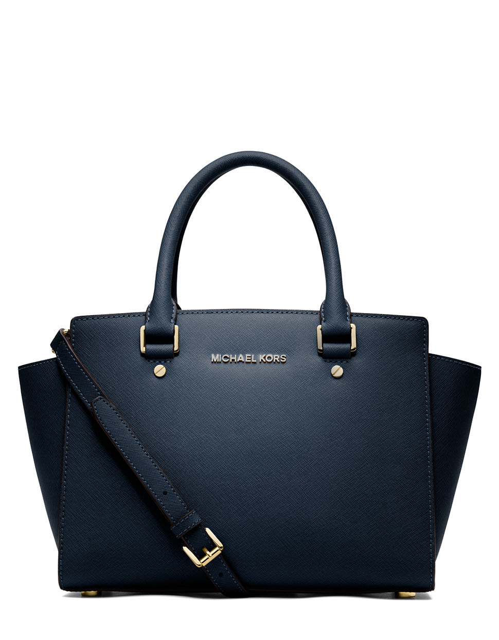 Bolsa Michael Kors Palacio De Hierro : Michael kors selma leather medium zip satchel in