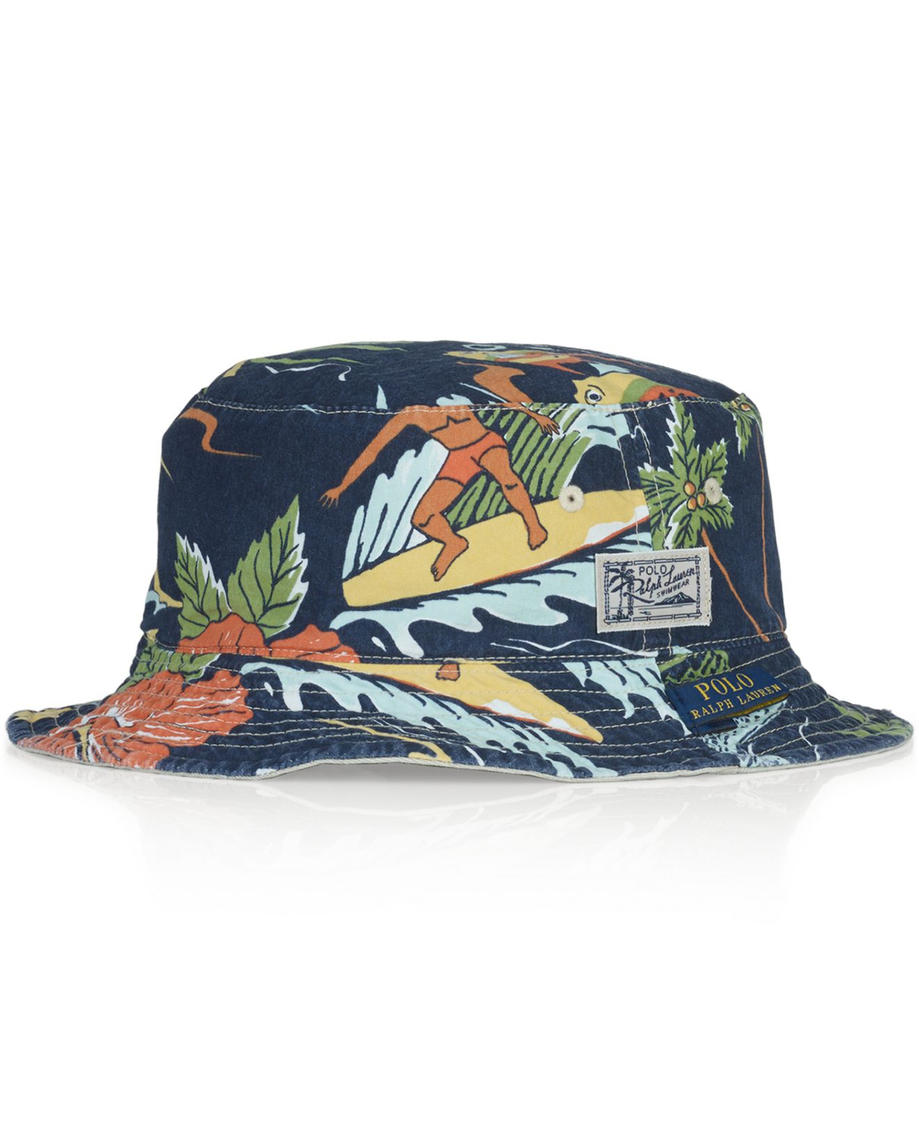 Lyst - Polo Ralph Lauren Reversible Tropical Bucket Hat for Men a88a4c8eb408