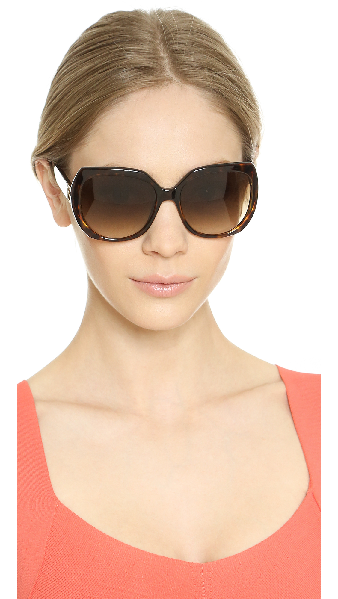 03209e4b0ad Lyst - Fendi Glam Sunglasses - Havana brown Gradient in Brown