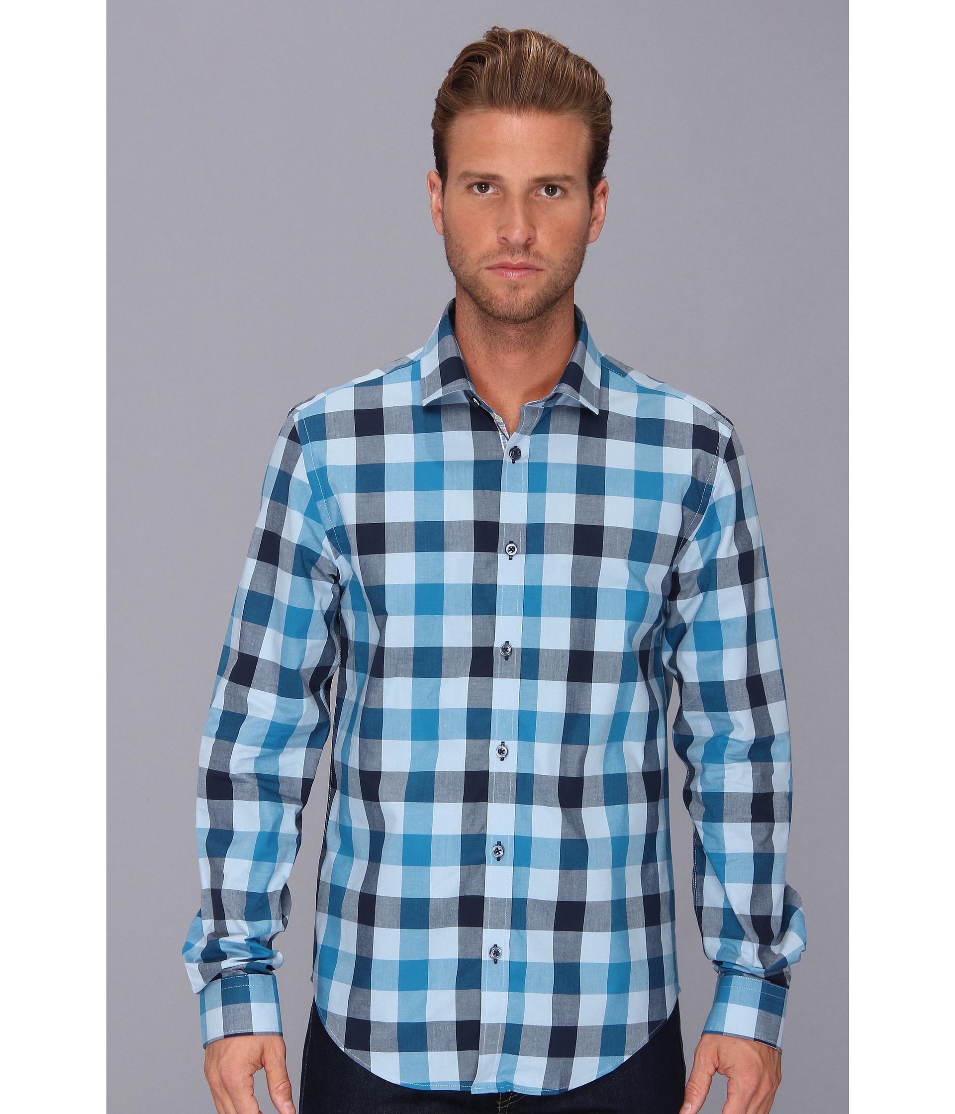 e796e251866 Lyst - Moods Of Norway Slim Fit Arne Vik Check Shirt in Blue for Men