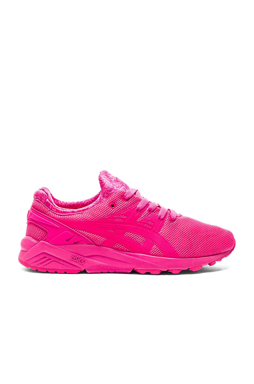 asics tiger gel-kayano trainer evo neon pink