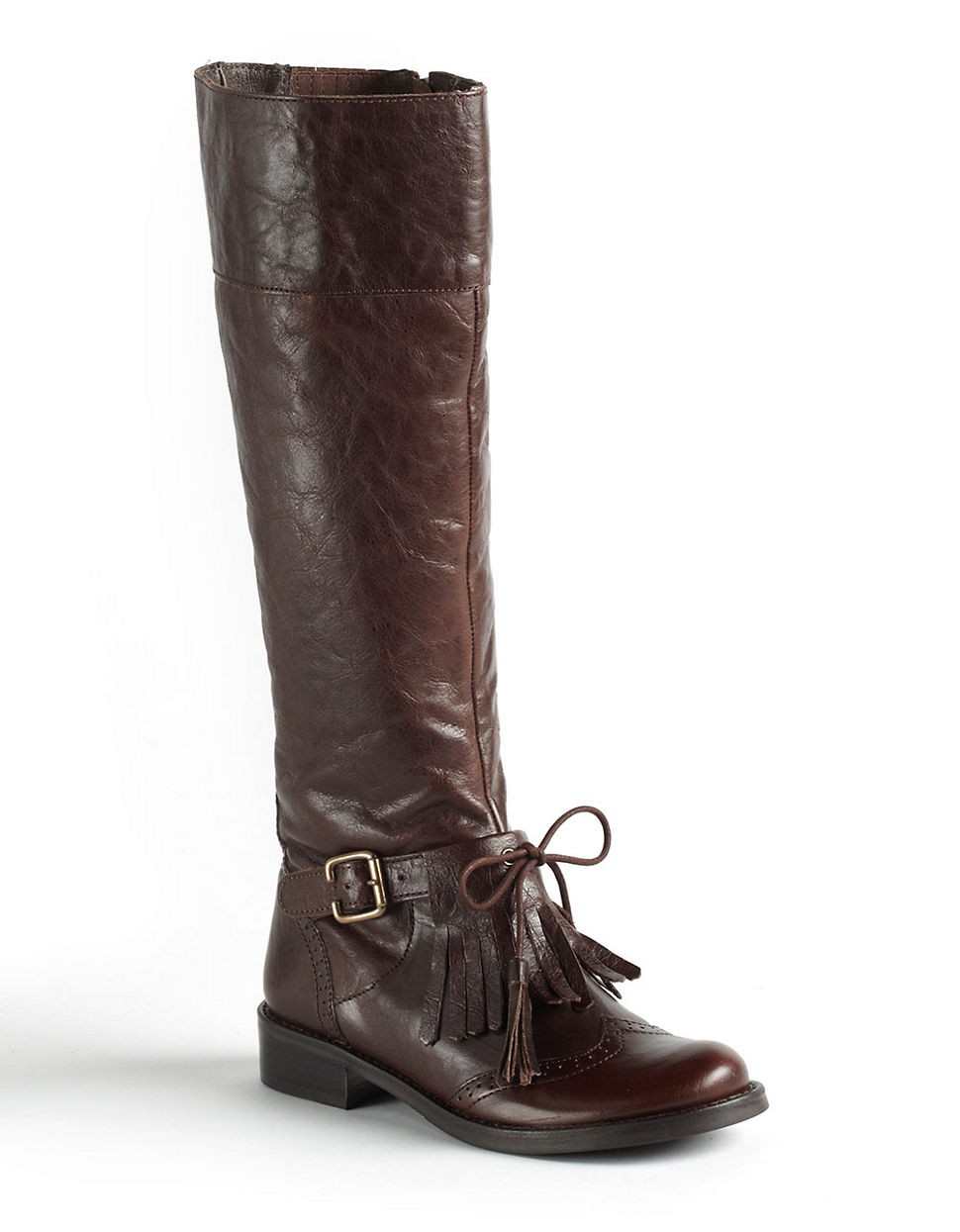 matisse leather boots in brown espresso