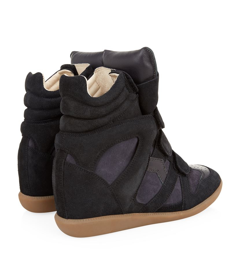 isabel marant bekett suede wedge sneaker in blue lyst. Black Bedroom Furniture Sets. Home Design Ideas