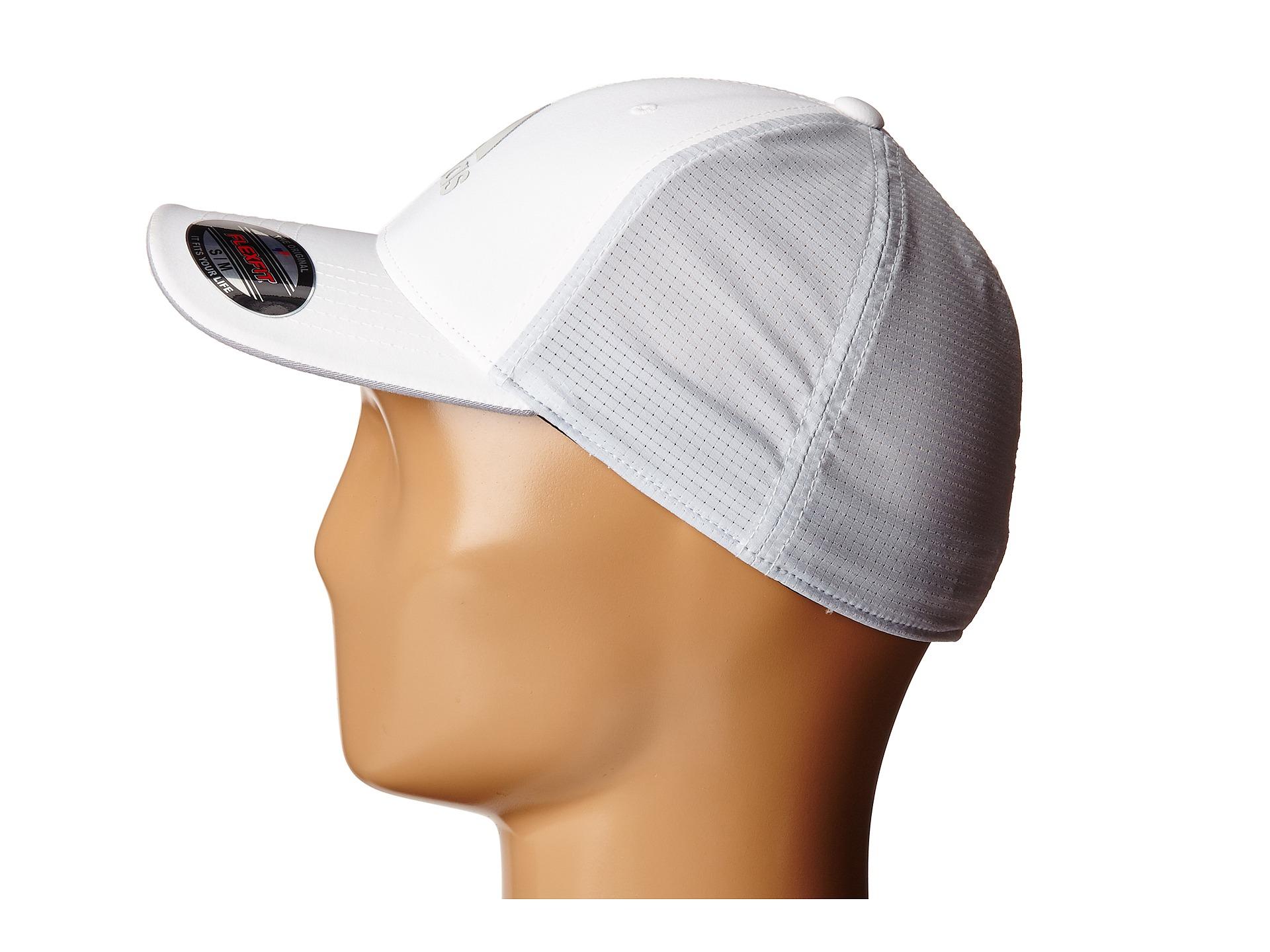 Lyst - adidas Originals Lightweight Climacool® Flexfit Hat in White ... 8dee0e602a3