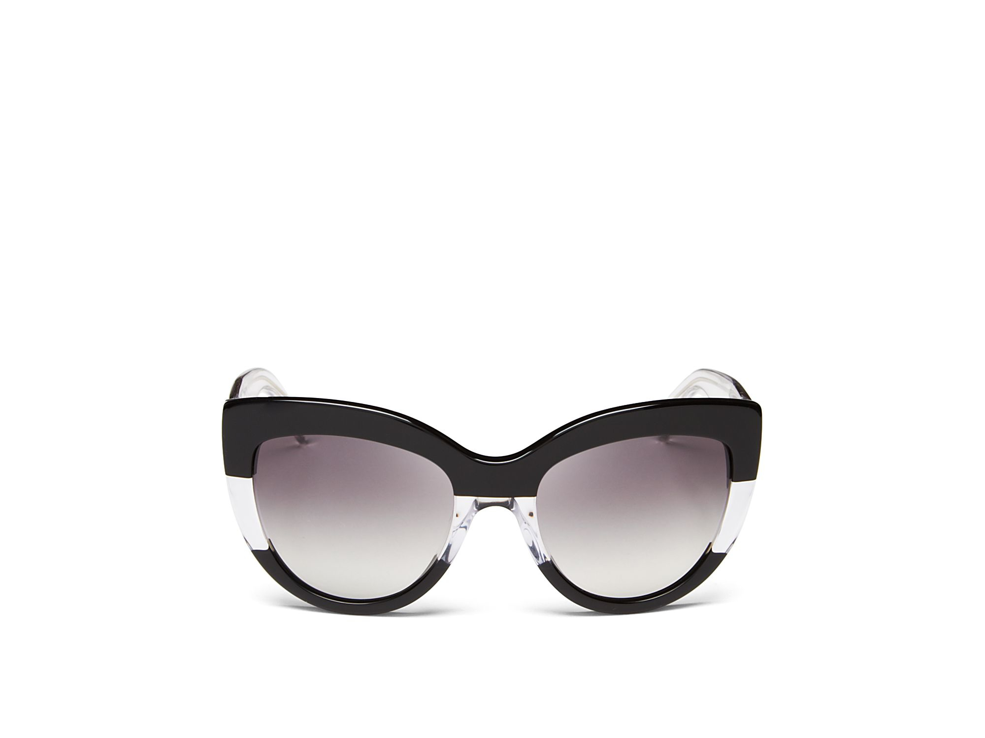 Marc Jacobs Cat Eye Sunglasses  marc by marc jacobs two tone cat eye sunglasses in black lyst