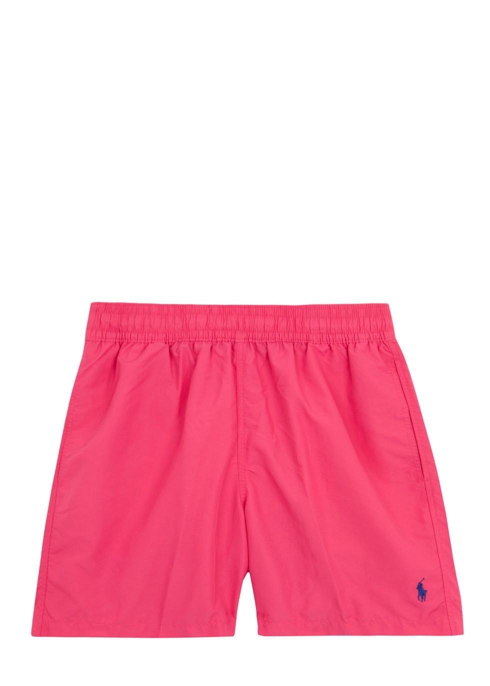 5c3077acd5 ... canada polo ralph lauren hawaiian pink swim shorts in pink for men lyst  9fbd5 1679b