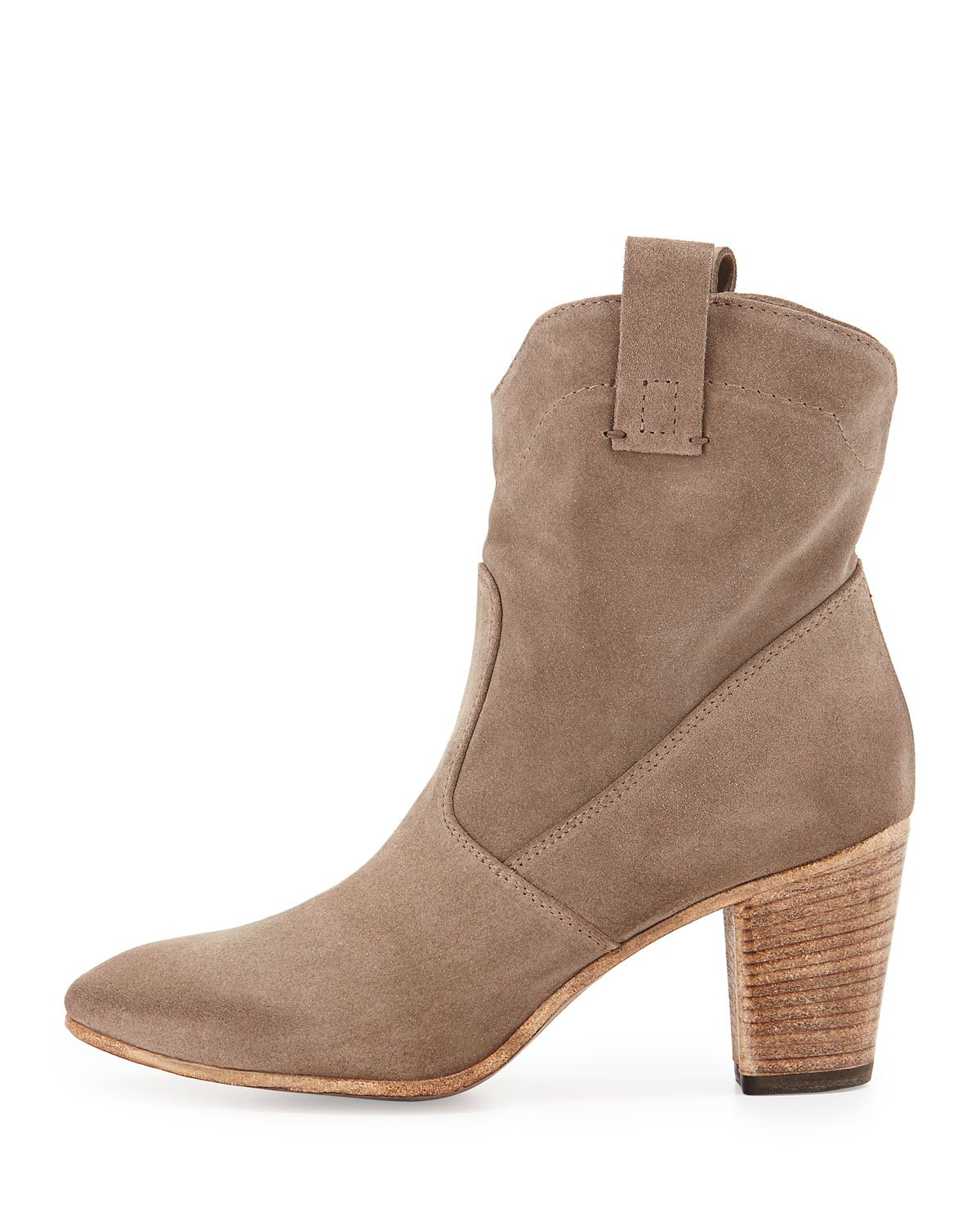 5e279cf3cf9 Lyst - Alberto Fermani Chiara Slouchy Suede Ankle Boot in Natural