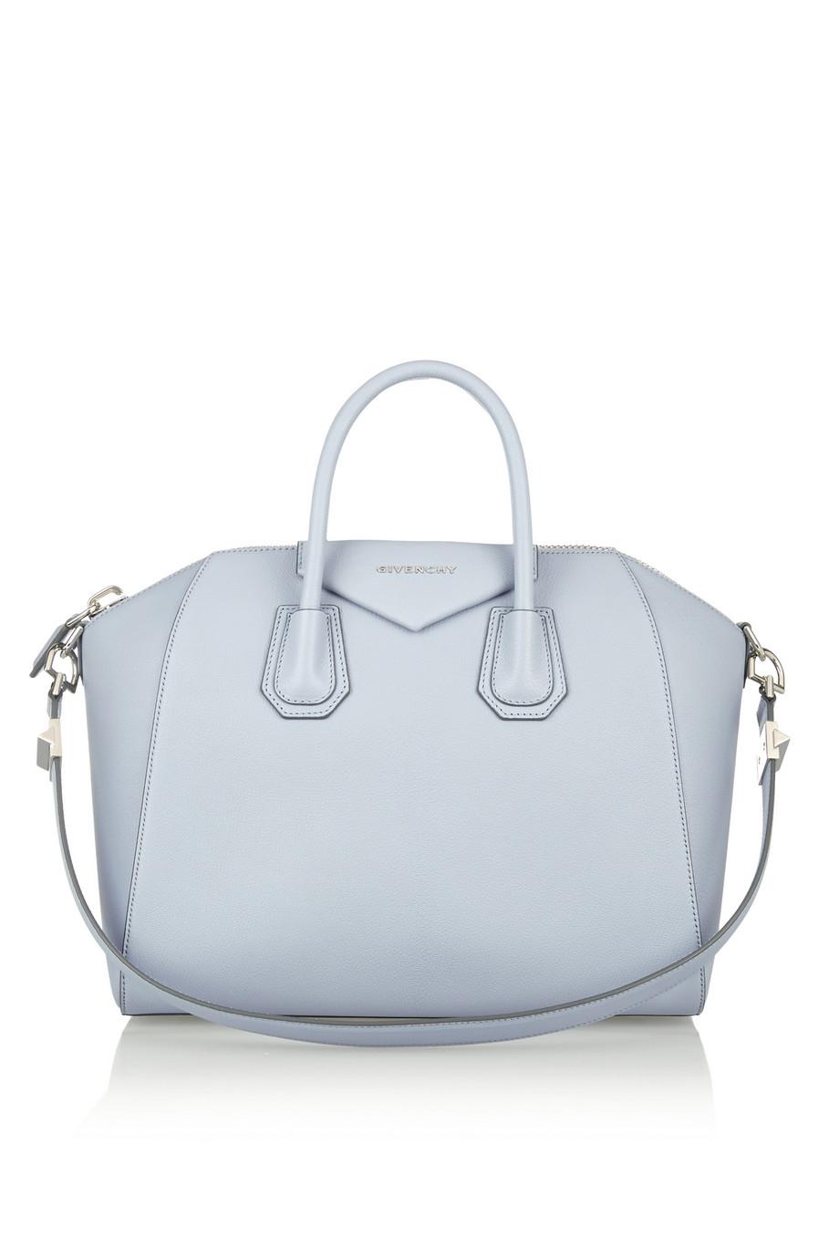 Lyst - Givenchy Medium Antigona Bag In Dusky-Blue Textured-Leather ... 2ef208d0b4340