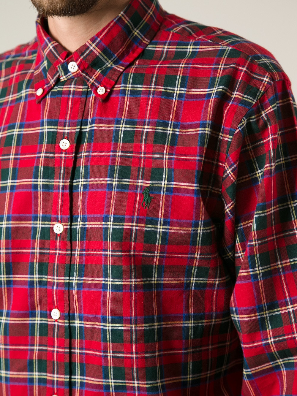 Polo ralph lauren Plaid Button Down Shirt in Red for Men | Lyst