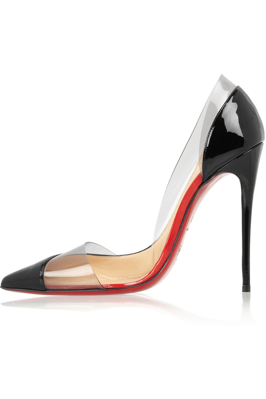 christian louboutin miss rigidaine 120 patentleather and