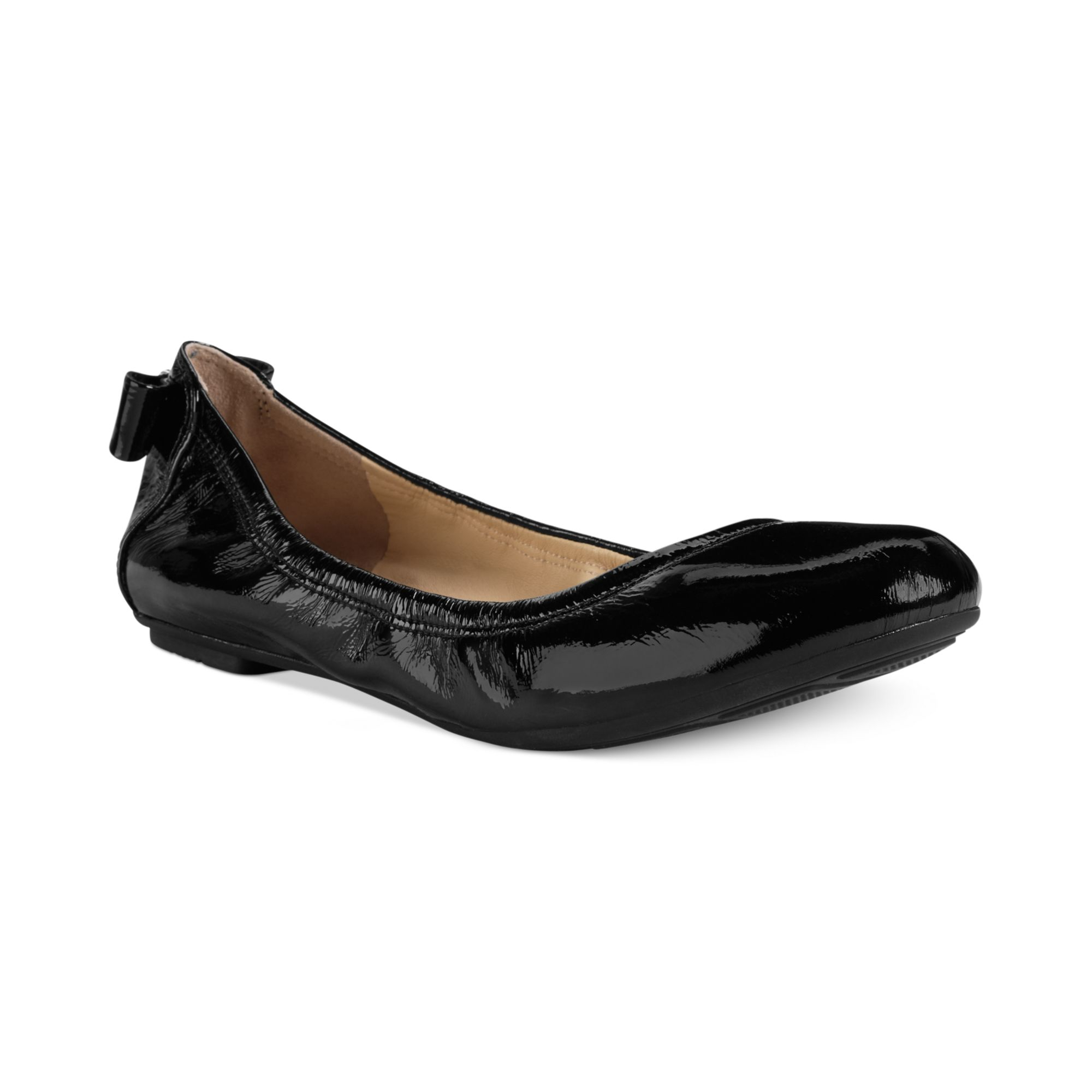 204d329d5caf Lyst - Cole Haan Womens Manhattan Bow Back Ballet Flats in Black