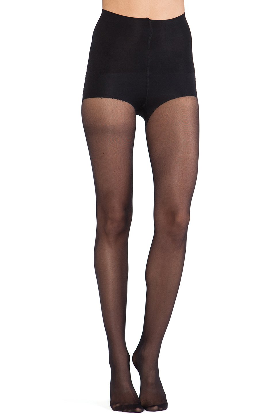 a8c0b804b Pretty Polly Shape It Up Tum And Bum Shaper Tights in Black - Lyst