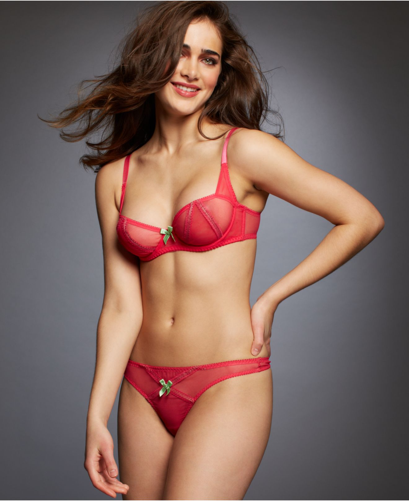 f184090539 Lyst - L Agent by Agent Provocateur Dorotia Balcony Bra L061-10 in Pink