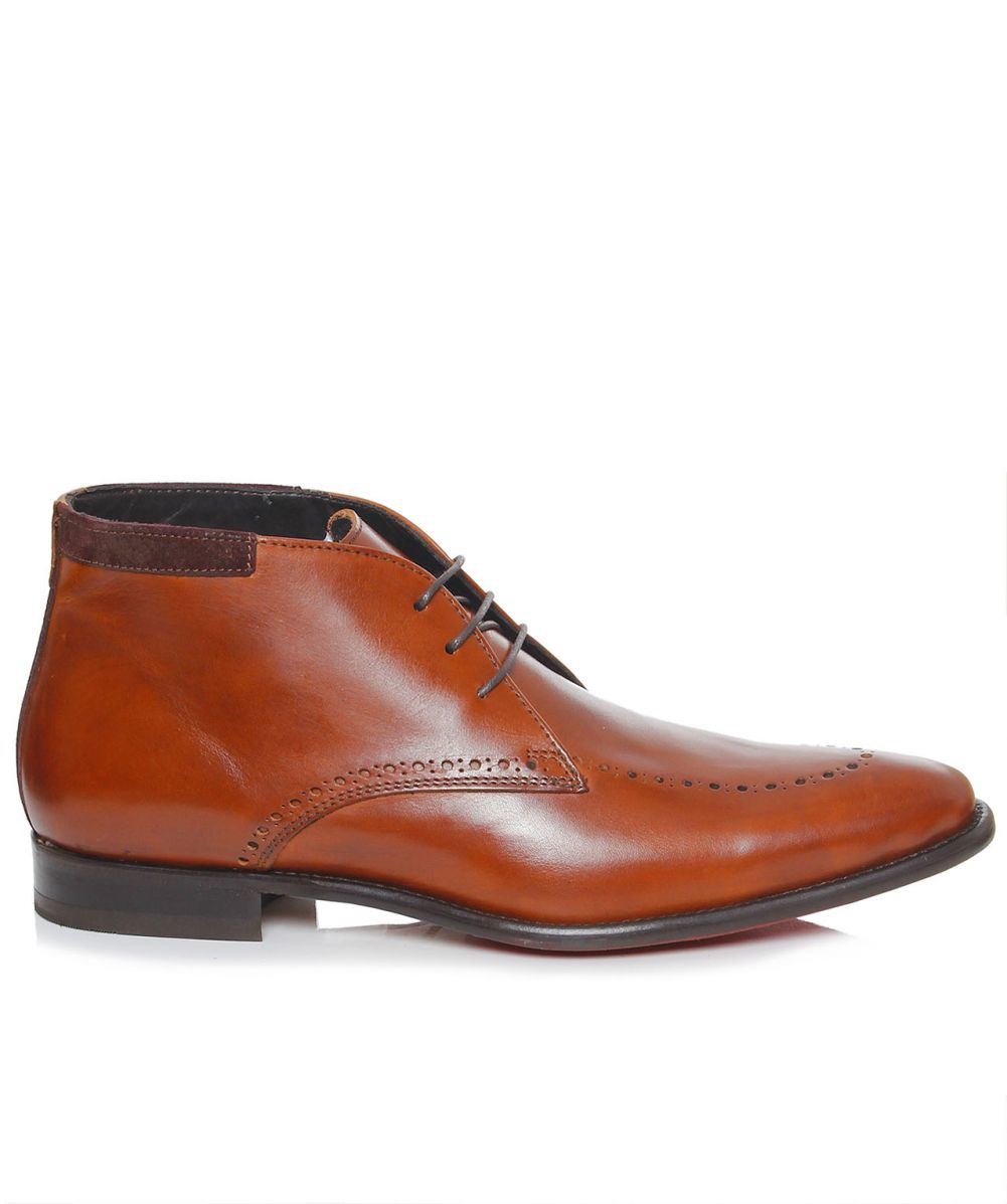Hole Heel Lining Leather Shoes