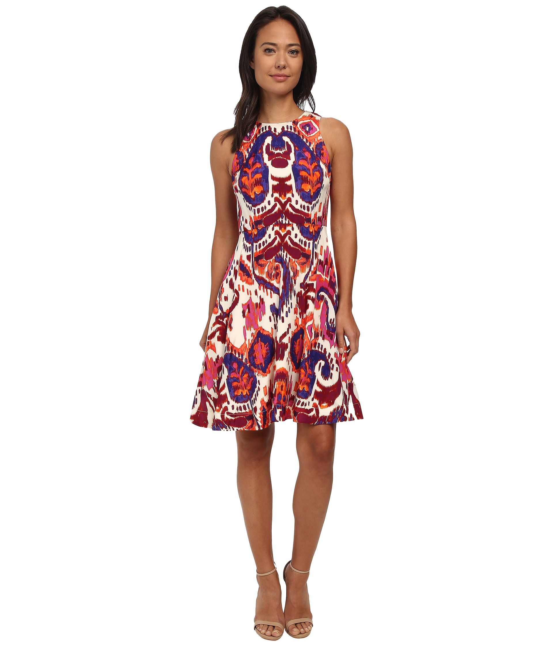 Lyst - Donna morgan Rayon Fit And Flare Dress