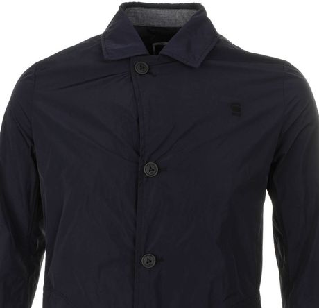 G Star Raw Correct Line James Trench Coat In Blue For Men