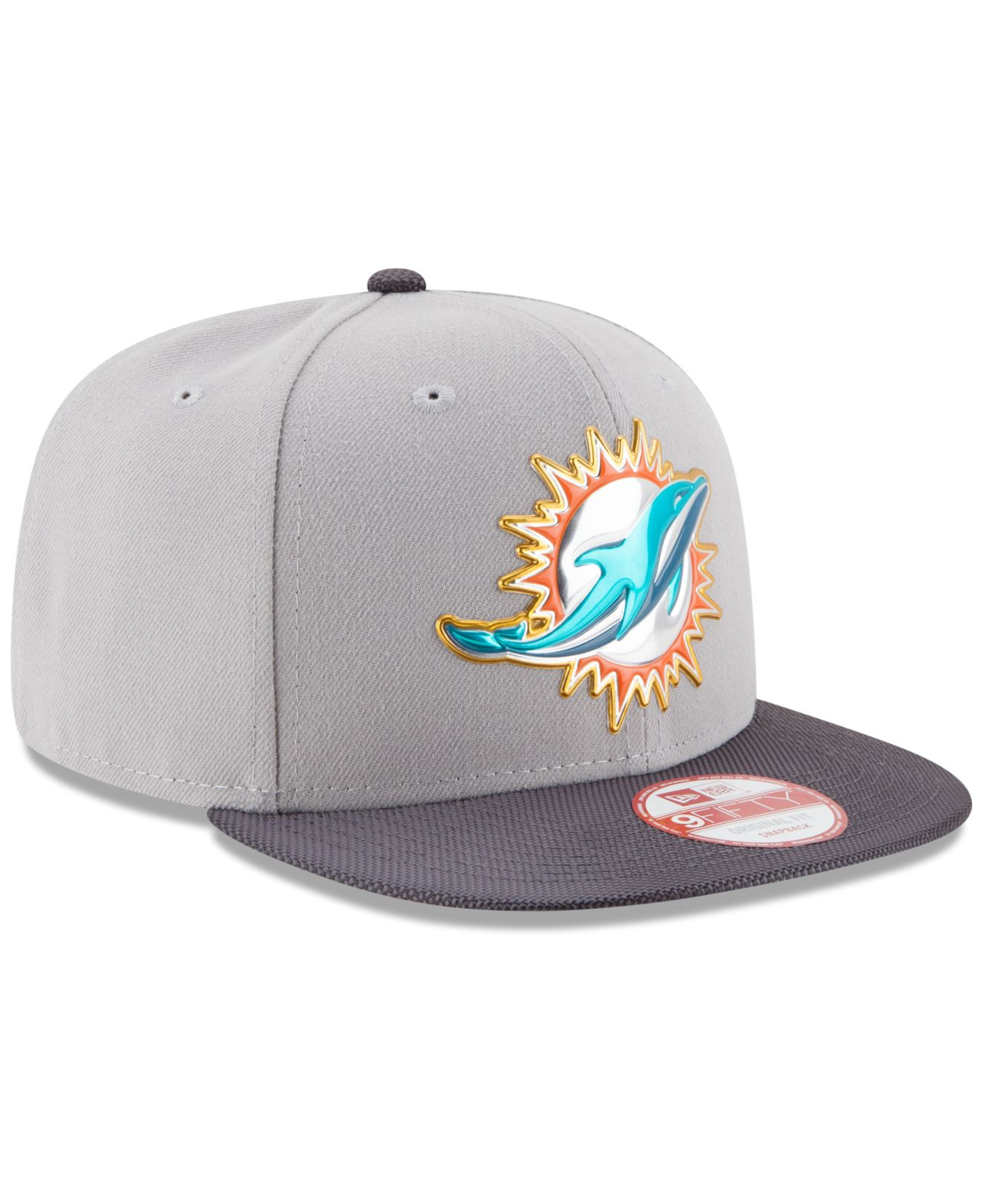 1b819c21593 Lyst - KTZ Miami Dolphins Gold Collection 9fifty Snapback Cap in ...