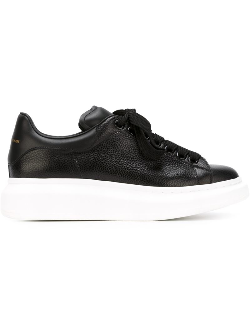 lyst alexander mcqueen extended sole sneakers in black. Black Bedroom Furniture Sets. Home Design Ideas