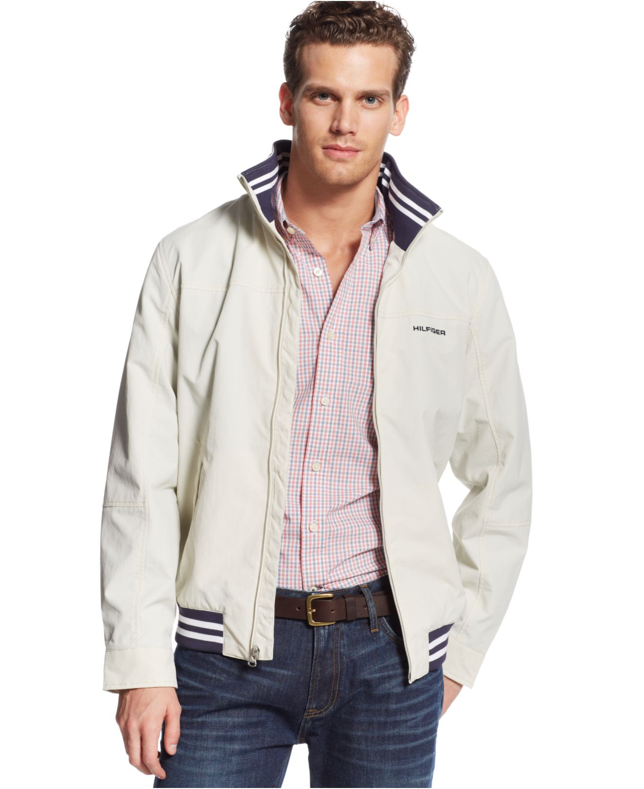 lyst tommy hilfiger regatta jacket in white for men. Black Bedroom Furniture Sets. Home Design Ideas