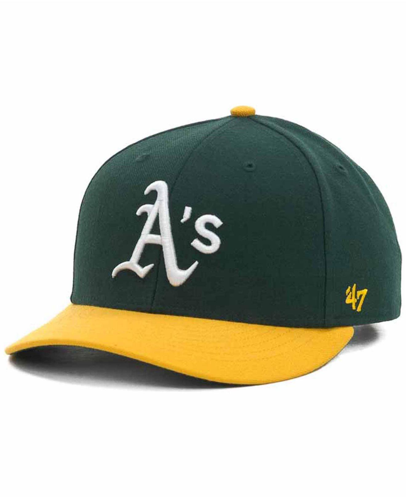 the best attitude 86d85 64669 ... shop lyst 47 brand oakland athletics mvp cap in green for men a8c90  26690