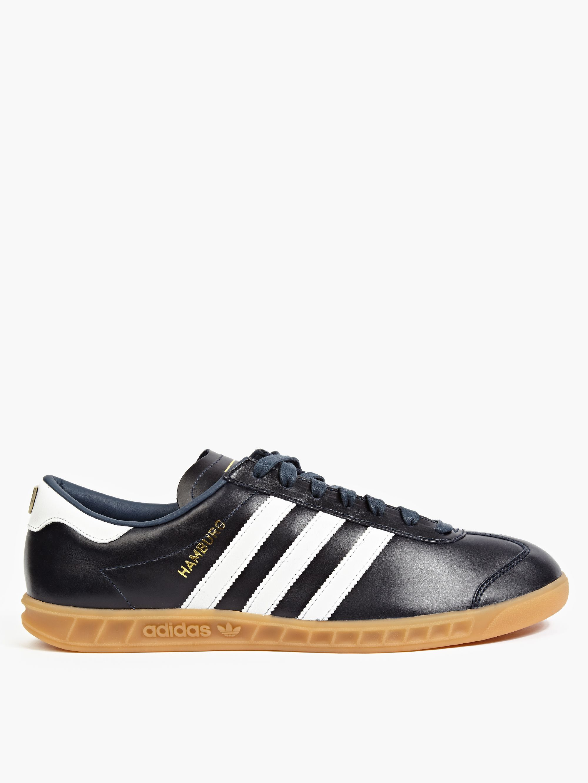 adidas originals navy hamburg 39 made in germany 39 sneakers in black for men lyst. Black Bedroom Furniture Sets. Home Design Ideas
