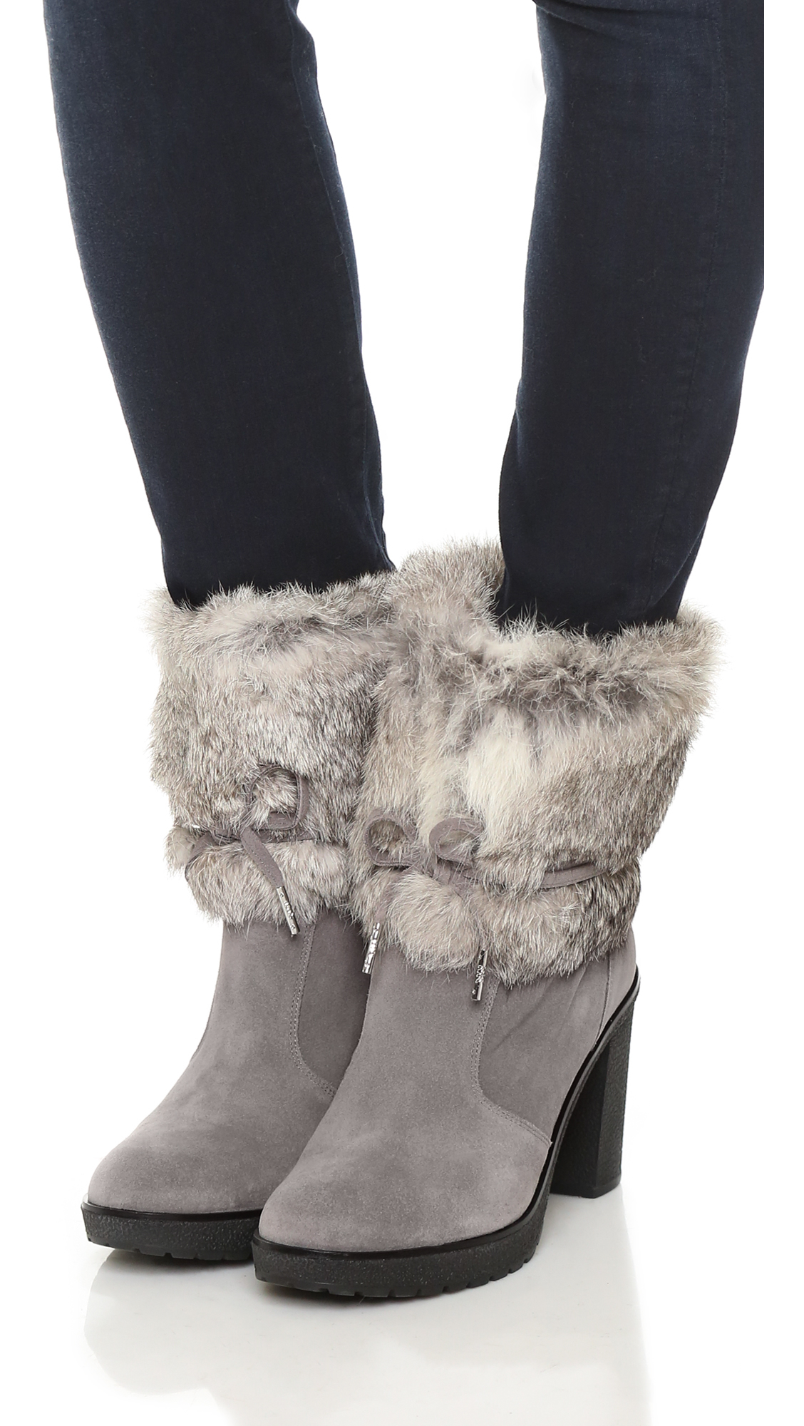 Lyst Michael Michael Kors Hawthorne Ankle Booties In Gray