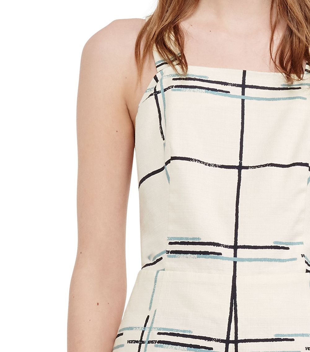 87e03d4452b1 Lyst - Tory Burch Stretch Canvas Crisscross Romper in White