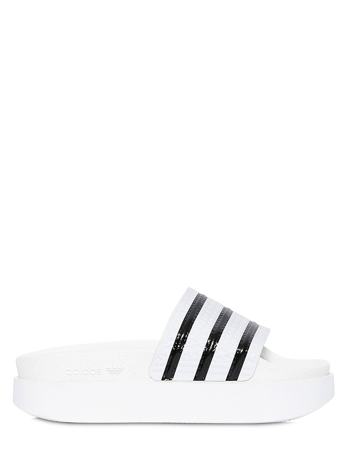 cbf3c981f683ba adidas Originals Adilette Bold Rubber Slides in White - Lyst