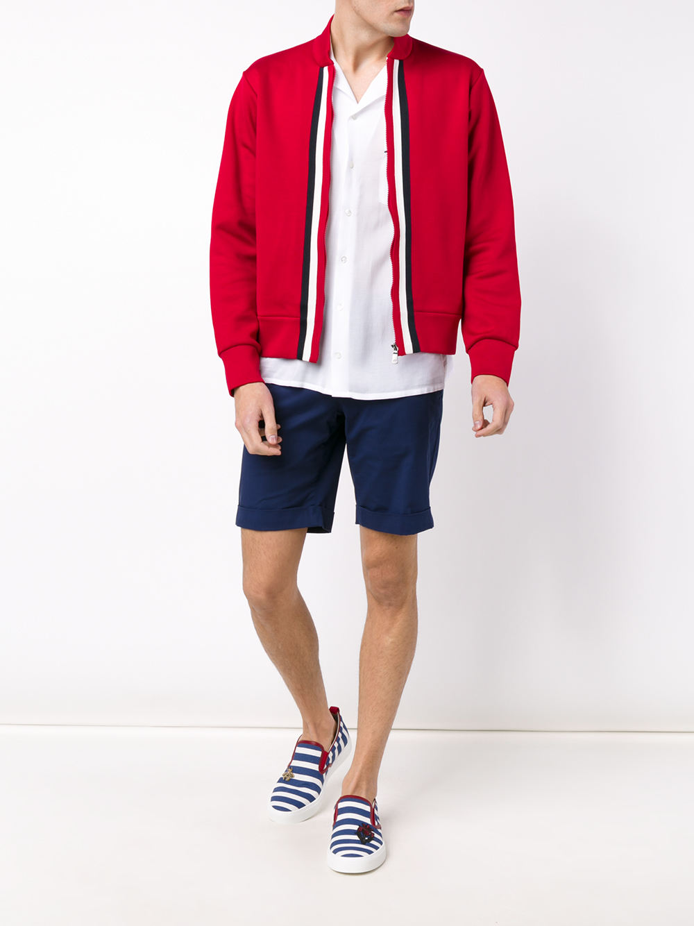 46d321466 Gucci Web Trim Track Jacket in Red for Men - Lyst
