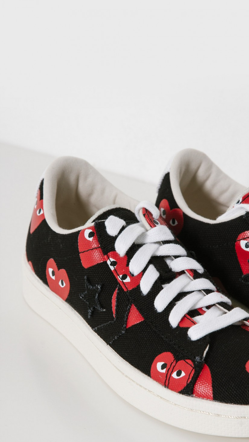 3a90c4337dbcec Play Comme des Garçons Play Converse Pro Leather Low in Black - Lyst