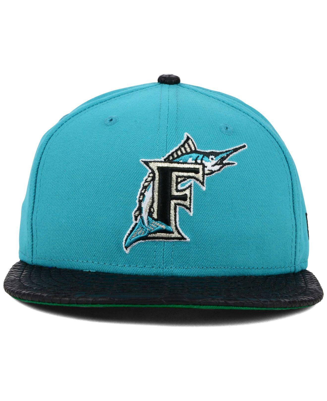 quality design e7e4d ae299 Lyst - Ktz Florida Marlins Mlb Team Python 59fifty Cap in Blue for Men