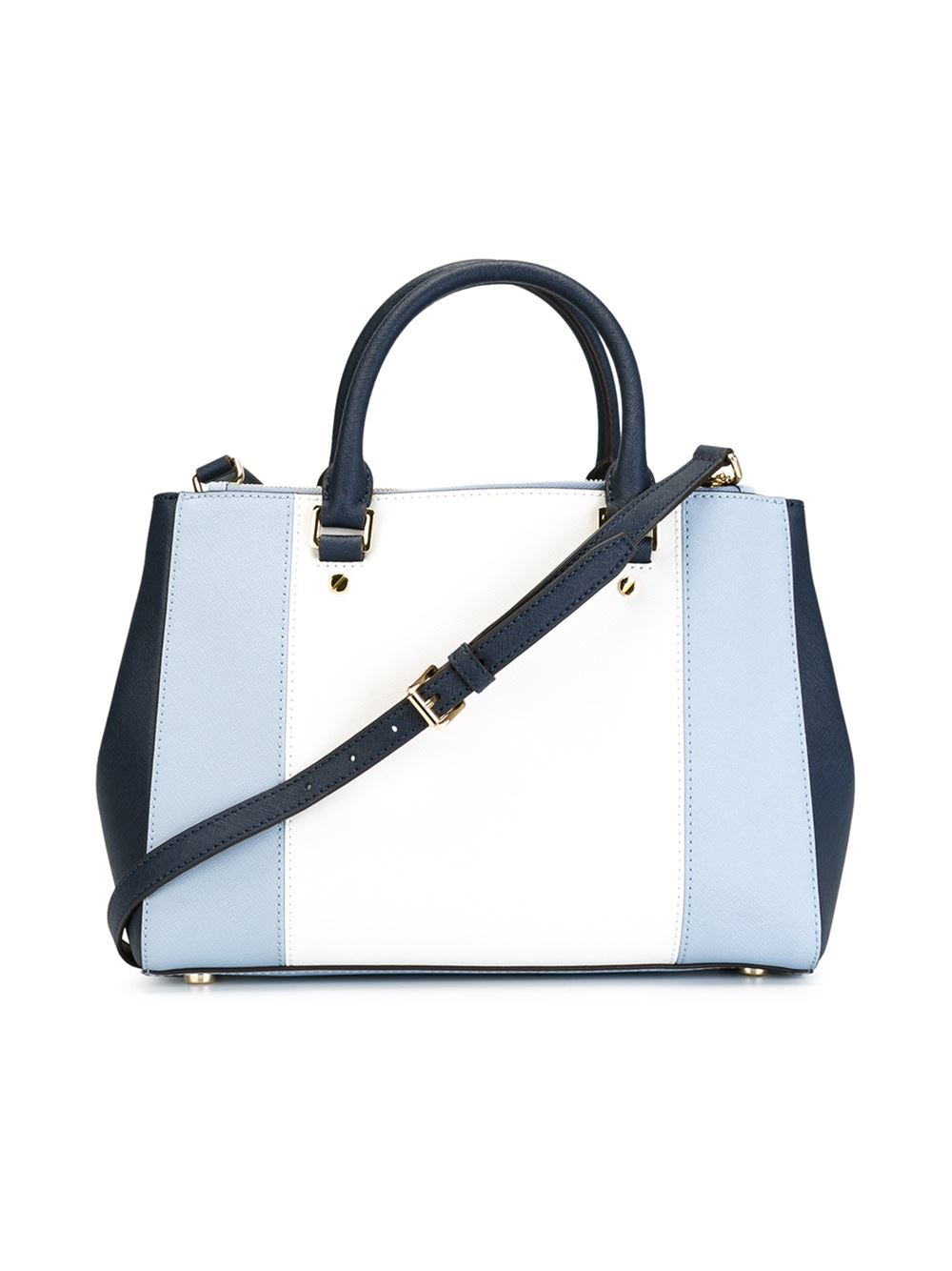 f0a084a25d4f Lyst - Michael Michael Kors Large  sutton  Colour Block Tote in Blue