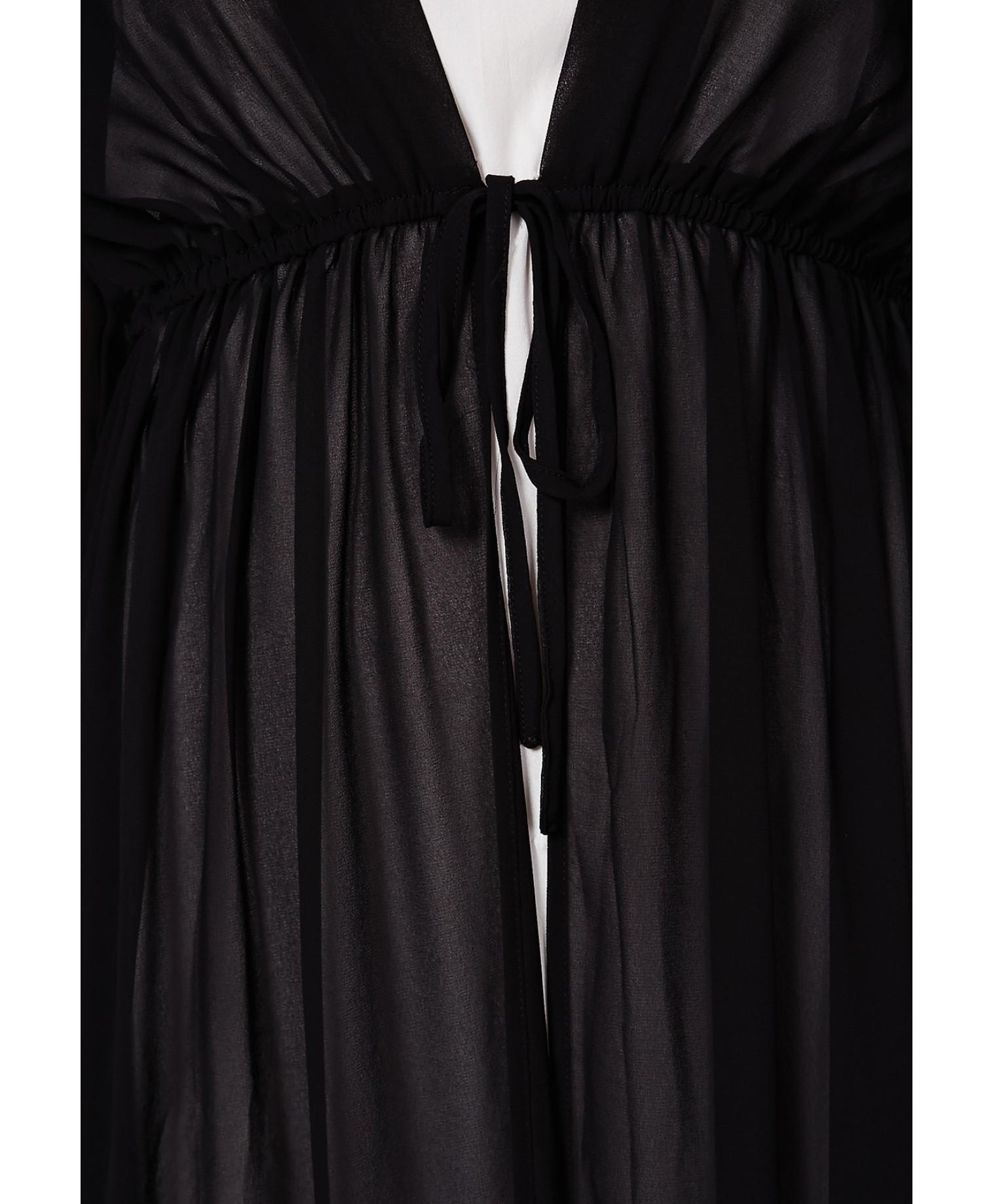 23053f7732dd Missguided Periana Long Sleeve Maxi Kimono Black in Black - Lyst